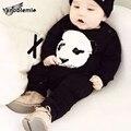 Padrão de Panda Macacão de Algodão Macacão de Mola Para Meninos Das Meninas Roupa Do Bebê de Natal Criança Pijamas Trajes Recém-nascidos Macacão Animais