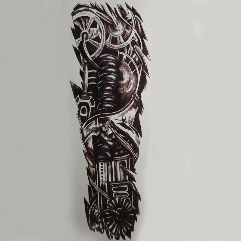 10pcs Large Robot waterproof Temporary Tattoos men Mechanical Patten Fake Tattoo Stickers Art henna Tattoo tatuajes sticker 3