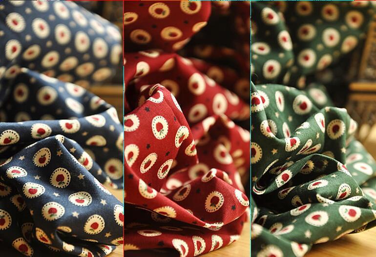Assez rouge apple bleu vert rouge imprimé coton popeline tissu 50x145 cm  Literie Courtepointe Vêtements DIY tissu a36426d74bc