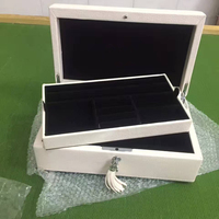 Wholesale New Products Jewelery Boxes Leather Charms Beads Bracelets Storage Box Fit European Original Pan Jewelry