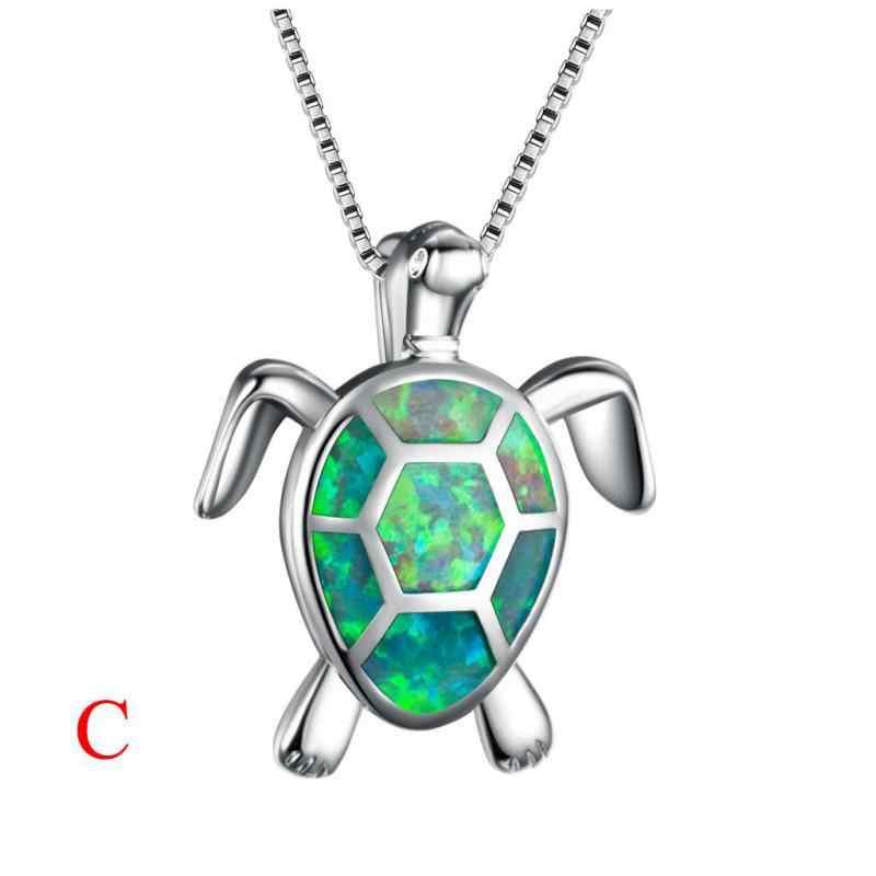 Женский очаровательный милый свитер, ожерелье, опал, черепаха, подвеска, ювелирное украшение, подарок на день Святого Валентина, ожерелье с памятью
