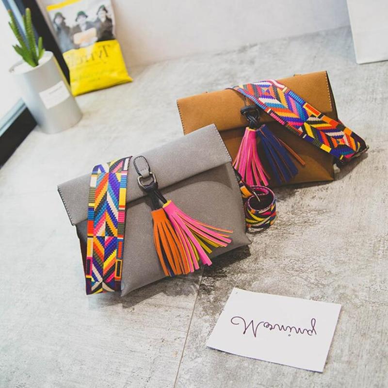 Marca famosa Sólido Colorido Correa Bolso de las mujeres de color - Bolsos - foto 5