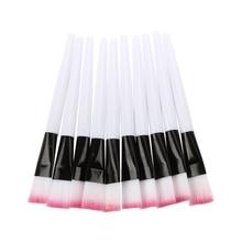 10 pcs Pink brush White Bar Facial Mask Brush Skin Care Makeup Tools
