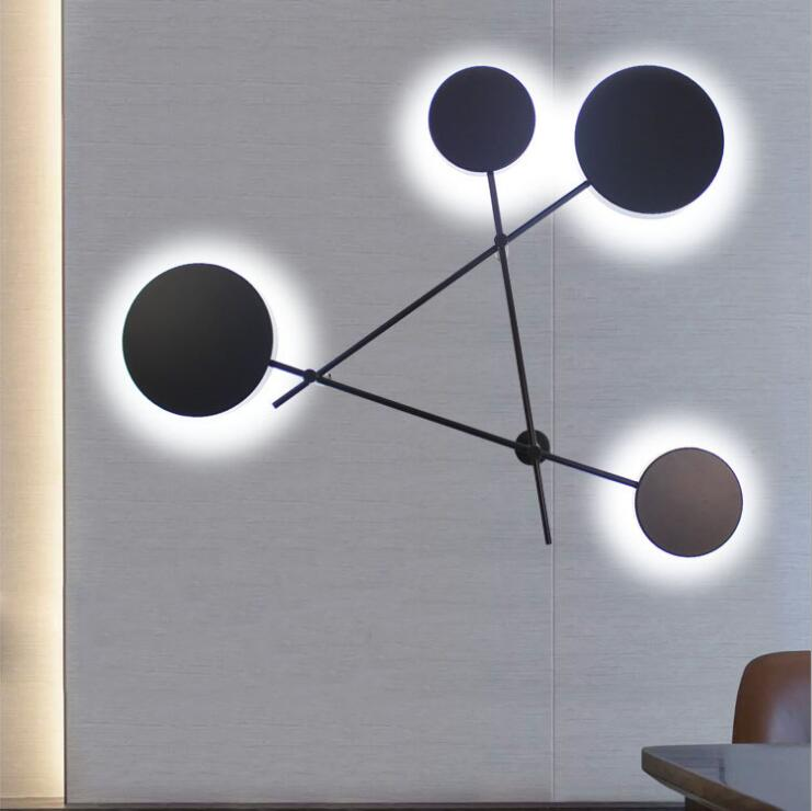 Nordic living room wall lamp modern minimalist personality creative circular staircase aisle wall lamp bedroom designer lamp. modern minimalist 9w led acrylic circular wall lights white living room bedroom bedside aisle creative ceiling lamp