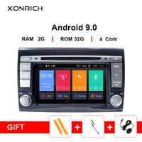 Xonrich 2 Din Android 9.0 Car Multimedia player For Fiat/Bravo 2007 2008 2009 2010 2011 2012DVD Automotivo GPS Navigation Radio
