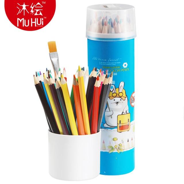 muhui watercolor pencil 36 colors prismacolor colored pencils lapis
