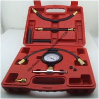 TU 113 Auto Fuel Injection Pump Pressure Tester Kit Car Petrol Gas Engine Cylinder Compression Gauge