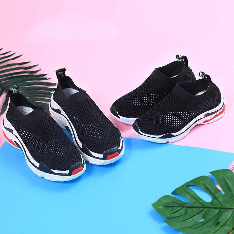 Weweya 2018 Summer Breathable Mesh Kids Shoes Slip-On Boys Casual Shoes Air  Mesh Girls 73c52f0b2ac1