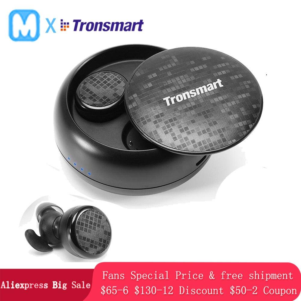 Tronsmart Corajosa soundsport IPX5 À Prova D' Água Sem Fio Bluetooth Fone de Ouvido Fones de Ouvido Sem Fio Fones de Ouvido Estéreo fones de ouvido Sem Fio Verdadeiro