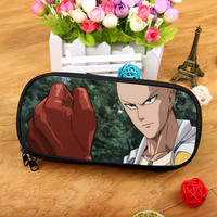 Anime ONE PUNCH-MAN Large-capacity fashion zipper cosmetic bag pencil purse student birthday gift Christmas gift       3