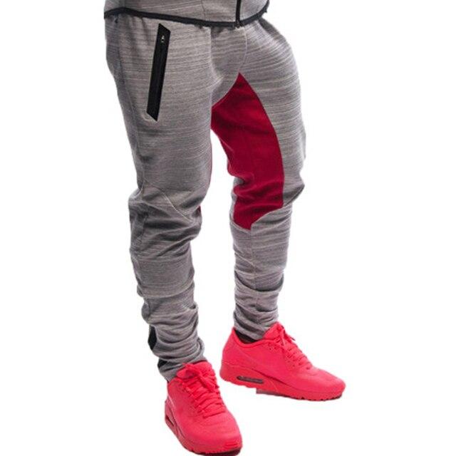 2016 Brand Men's Active  Pants Casual Elastic cotton Trousers Mens Trainning Workout Pants Sweatpants Jogger Legging Pants