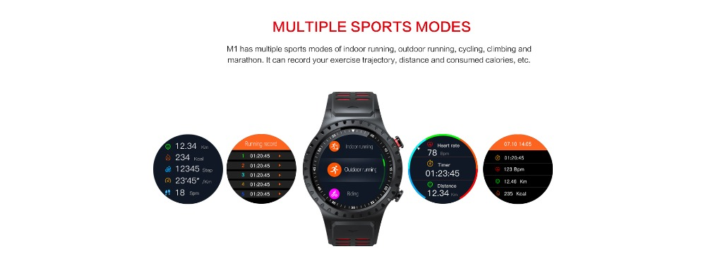 LEMFO M1 Men's Bluetooth Smart Watch With GPS IP67 Waterproof Heart Rate Monitor And Long Standby Time 5
