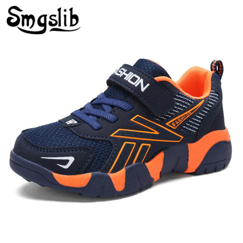 Kids Girls Sport Shoes Running Sneaker 2018 Spring Autumn Children Mesh Leather Outdoor Toddler Casual Sneakers Teenage Trainers