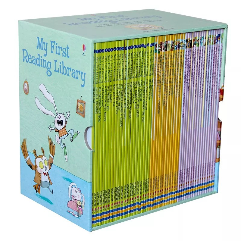 50 books/set Usborne My First Reading Library English Picture Books Baby toy Childhood words Early learning gift For kids 1pcs english picture flip learning education books for kids baby for children see inside weather and climate