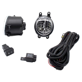 For DAIHATSU matter mpv-36 M4 06-11 H11 Wiring Harness Sockets Wire Connector Switch + 2 Fog Lights DRL Front Bumper LED Lamp