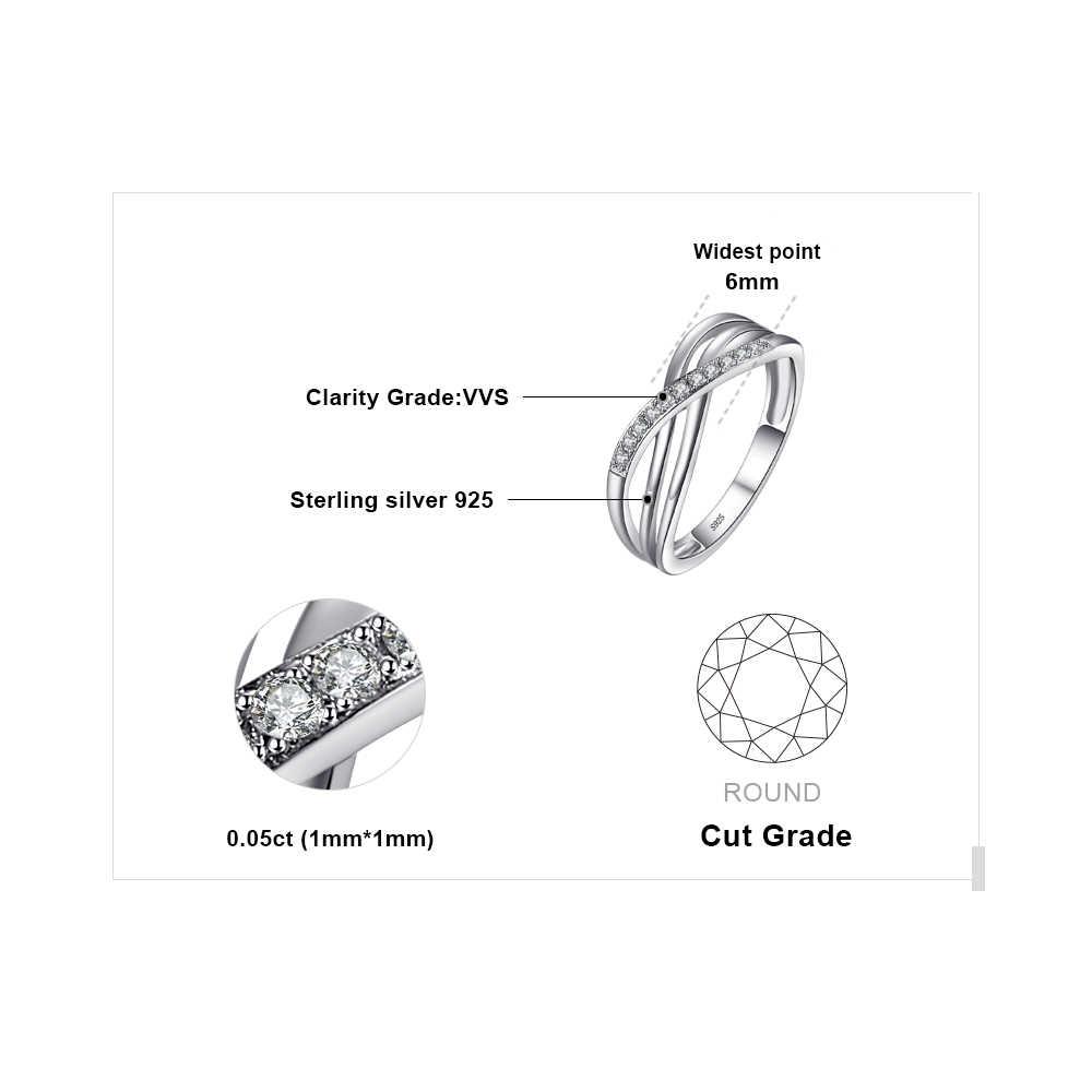 JPalace Infinity แหวนแต่งงาน 925 เงินสเตอร์ลิงแหวนซ้อนกันได้แหวน Eternity Band เงิน 925