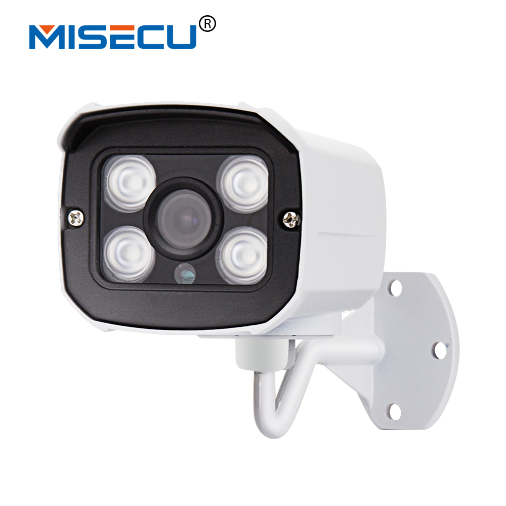 MISECU New 1280*720 1.0MP IP Camera 720P 4pc array leds ONVIF 2.0 Waterproof IR Night Vision P2P CCTV Home Surveillance Security lifan 720 720