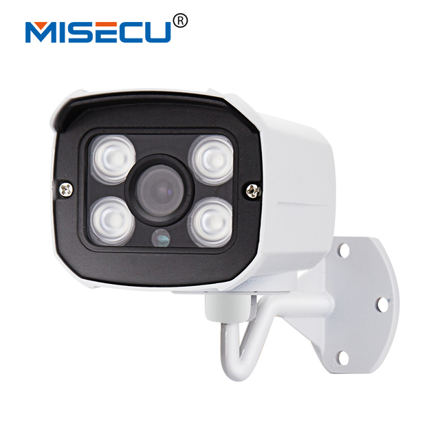 MISECU New 1280*720 1.0MP IP Camera 720P 4pc array leds ONVIF 2.0 Waterproof IR Night Vision P2P CCTV Home Surveillance Security
