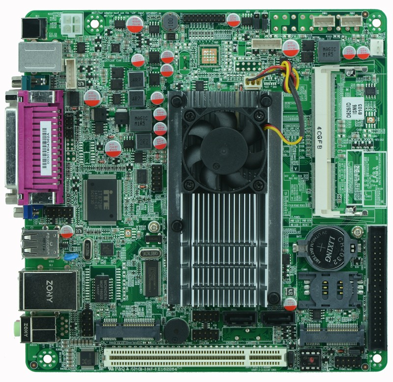 все цены на  Cheap price with high quality industrial embedded MINI_ITX motherboard ITX_M58_D52 support Intel D525/1.80GHz dual core CPU  онлайн
