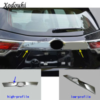 For Toyota Highlander 2015 2016 2017 Car styling ABS Rear door tailgate trunk bumper frame plate trim lamp trunk Lid part 1pcs