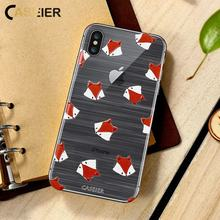 CASEIER 3D Emboss Autumn Soft Phone Case For iPhone 7 8 Plus Silicone Patterned Cases 6 6s X Cute Funda Capinha