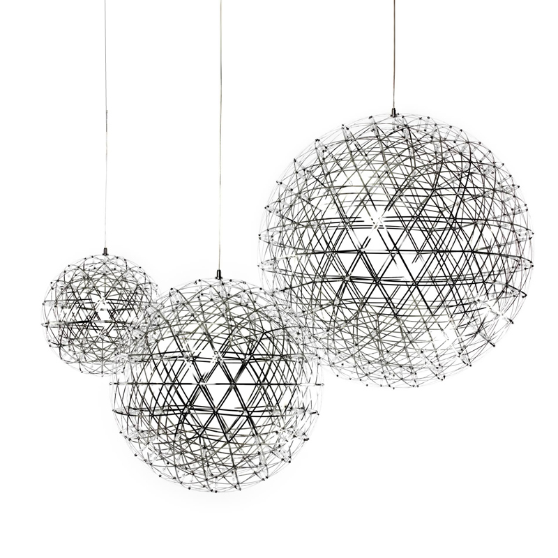 Bjornled Stainless Steel ball shape Pendant Lamp Dia.30cm Creative droplight LED Firework Lamp 42pcs 12V hotel Lamp by EMS