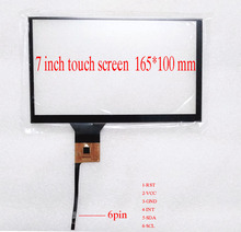 7 inch Capacitive Touch Screen  universal capacitive touch panel for car-radio carpc I2C interface 165*100mm стоимость