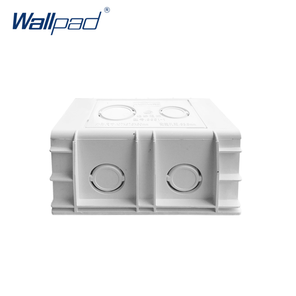 Mounting Box for 118*72mm Wall Switch and Socket Wallpad Cassette Universal White Wall Back Junction Box 86x86 pvc junction box wall mount cassette for switch socket base