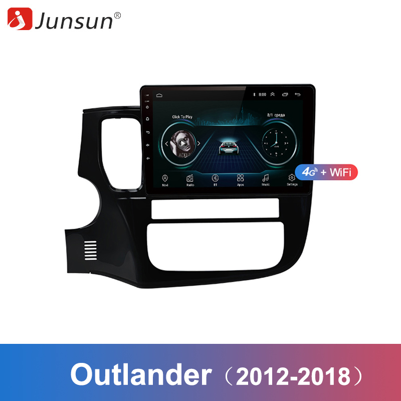 Junsun 2 Din Multimedia Video Player Android 8 1 GPS Navigation Radio WIFI OBD2 For Mitsubishi