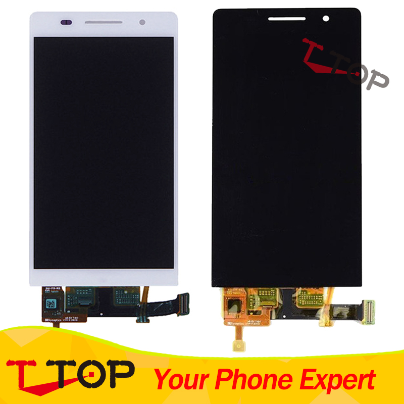 4.7 inch LCD Assembly For Huawei Ascend P6 LCD Display and Touch Screen Digitizer Complete 1PC/Lot replacement original touch screen lcd display assembly framefor huawei ascend p7 freeshipping