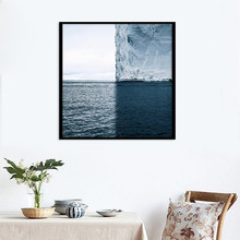 hot deal buy seascape landscape print nordic canvas painting home decor wall art diy poster print office living room backdrop props supply