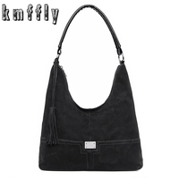 2018 Vintage Fashion Casual Tote Faux Suede Bags Handbags Women Famous Brands Luxury Leather Women Bag Female Shoulder Bags 2018