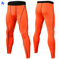 Mallas de compresión para hombre, Leggings deportivos de secado rápido, ropa deportiva para gimnasio, pantalones largos de entrenamiento transpirables con capa Base