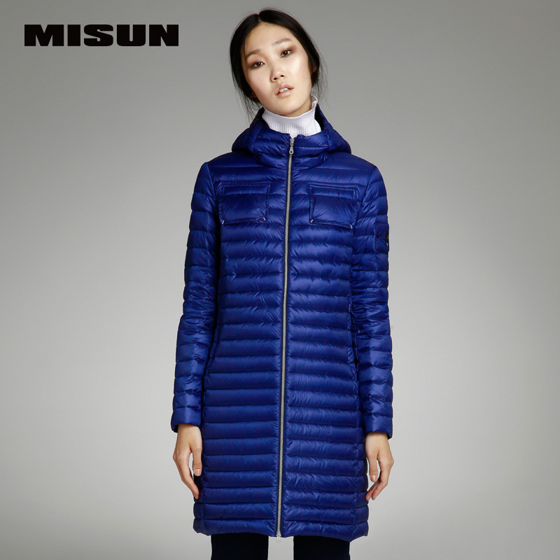 Misun2017 spring autumn and winter medium long Light and thin down ...
