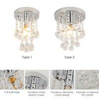 New Crystal Pendant Light AC220V E14 Base Socket Holder For Bedroom Living Room Restaurant Dining Hall