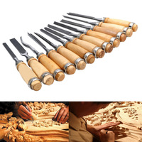 12pcs Set New Multi Tool Hand Wood Carving Chisels Knife For Basic Woodcut DIY E2shopping CLH