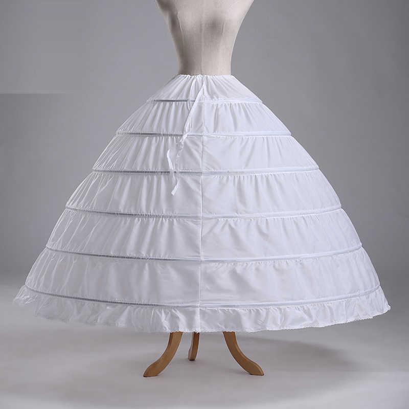 ANGELSBRIDEP New 6 Hoops Petticoats Bustle for Ball Gown Wedding Dresses
