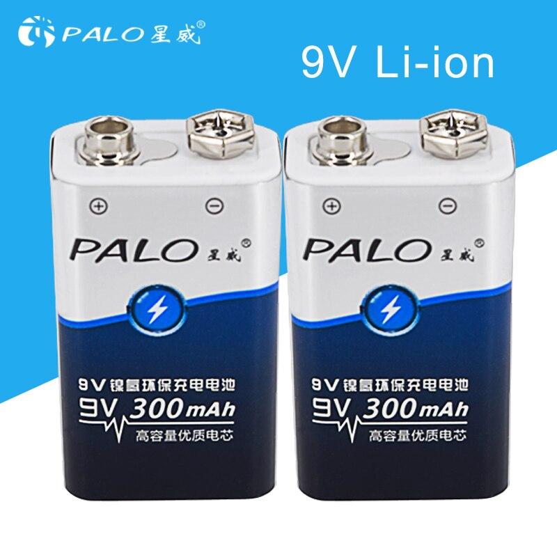 PALO 9V battery 6f22 rechargeable battery 006p 9 v battery rechargeable batteria 9v batteries все цены
