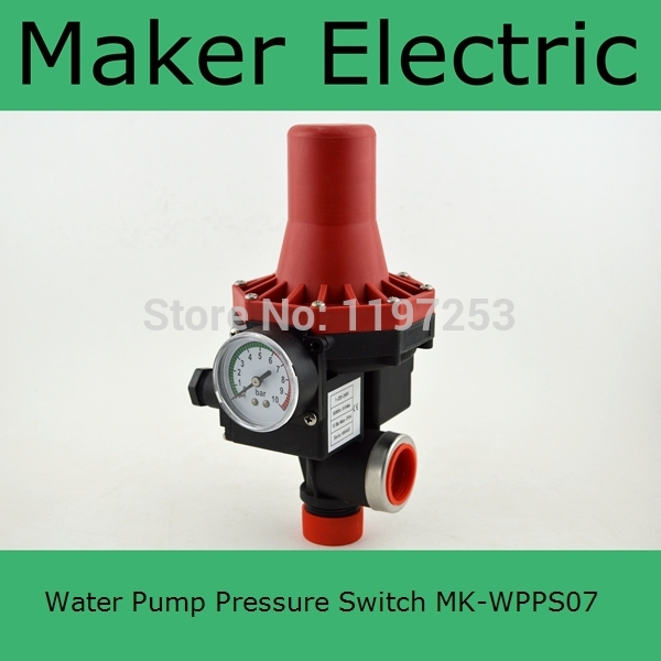 все цены на  MK-WPPS07 WATER PUMP AUTOMATIC PRESSURE CONTROL ELECTRONIC SWITCH from china factory  онлайн