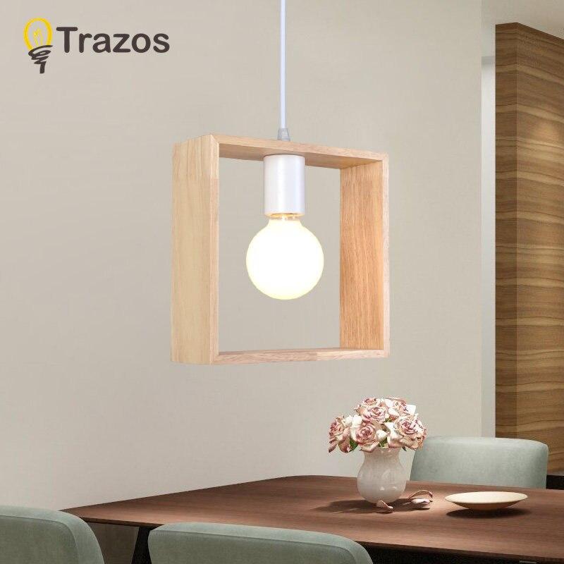 Lustres lamparas colgantes interior lustres de Material do Corpo : Madeira