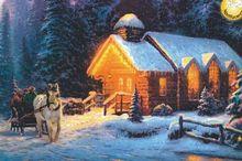 Winter carriage Fluorescent paper puzzle 1000 pieces Noctilucent jigsaw puzzles 1000 for adults kids'1000 piece puzzles