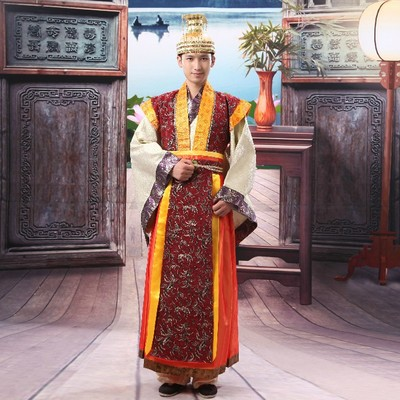 New 2018 Emperor's costume clothes hanfu men's clothing hanfu Tang Suit Hanfu Stage Show