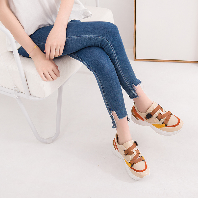 Gris Confortables forme Sneakers Chaussures blanc Des Femmes Respirant Chaussure Casual Blanc chocolat Plate Mexemina 2018 Femme 8twvOnq