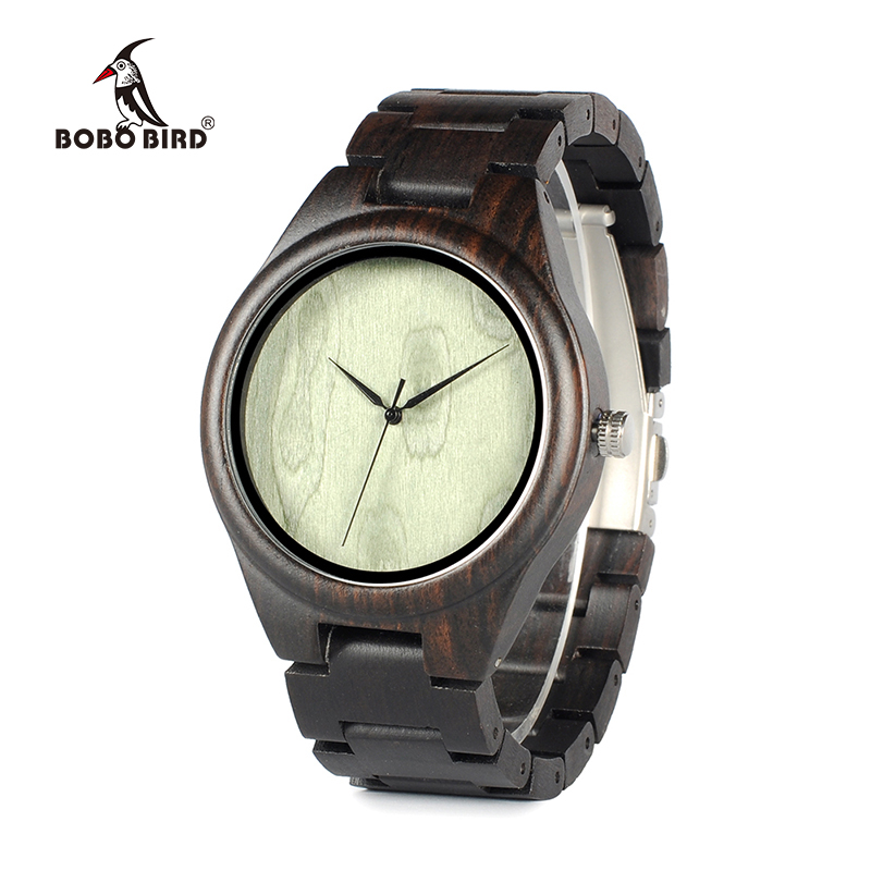 Bobobird New Limited Edtion Bamboo Wooden Watches Men's Luxulry Brand Designer Watch Leather Band Quartz Watches for Men