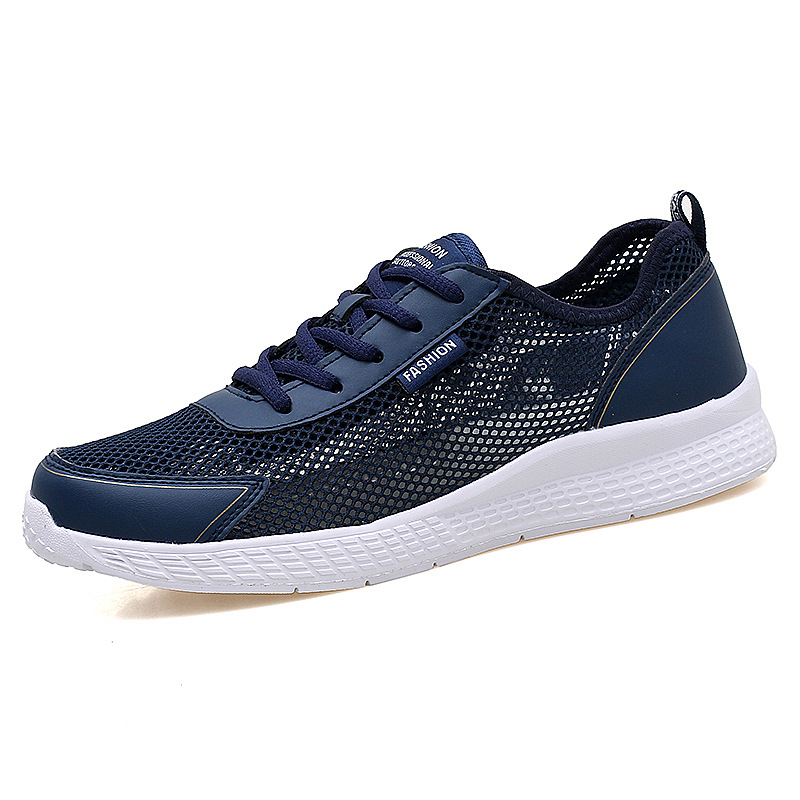 2019 Men Vulcanized Shoes Spring Outdoor Walking Sneakers Breathable Fashion Sneakers Men Mesh Casual Shoes Big Plus Size 38 44 in Men 39 s Vulcanize Shoes from Shoes