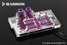 BARROW Full Cover Graphics Card Block use for Sapphire RX580 8G D5 Ultra Platinum OC GPU Radiator Block LRC RGB BS-SARX580-PA