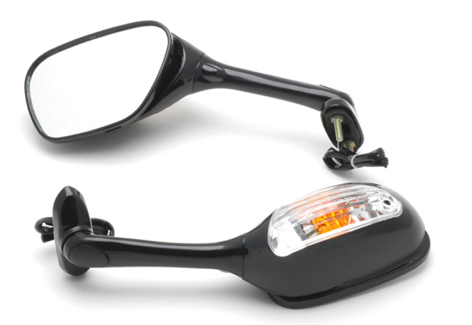 High quality Clear Turn light Motorcycle  Rear  Mirrors  For   2005-2008 Suzuki GSXR 1000
