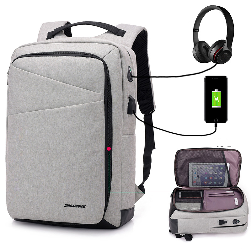 Fashion Men Women Multifunction Usb Charging 15 Inch Laptop Backpacks Male Mochila Leisure Waterproof Travel Backpack Unisex