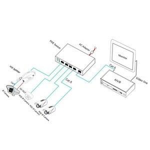 Image 5 - 10/100 mbps ネットワーク 5/6 ポートスイッチ 802.3af スイッチ 4 poe ポートと 1 アップリンクとイーサネットを拡張サポート 250 メートル 48 v