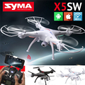 Syma exploradores x5sw fpv 2 2.4 ghz 4ch 6-axis gyro rc headless voando Quadcopter Drone com HD Camera Wifi RC Zangão Preto Branco